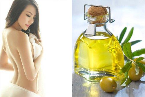 Dầu oliu để massage ngực