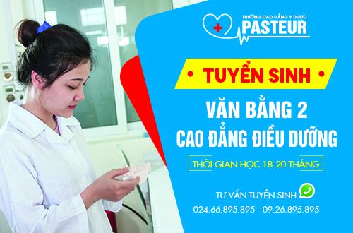 Học Văn bằng 2 Cao đẳng Điều dưỡng nên chọn Trường Cao đẳng Y Dược Pasteur